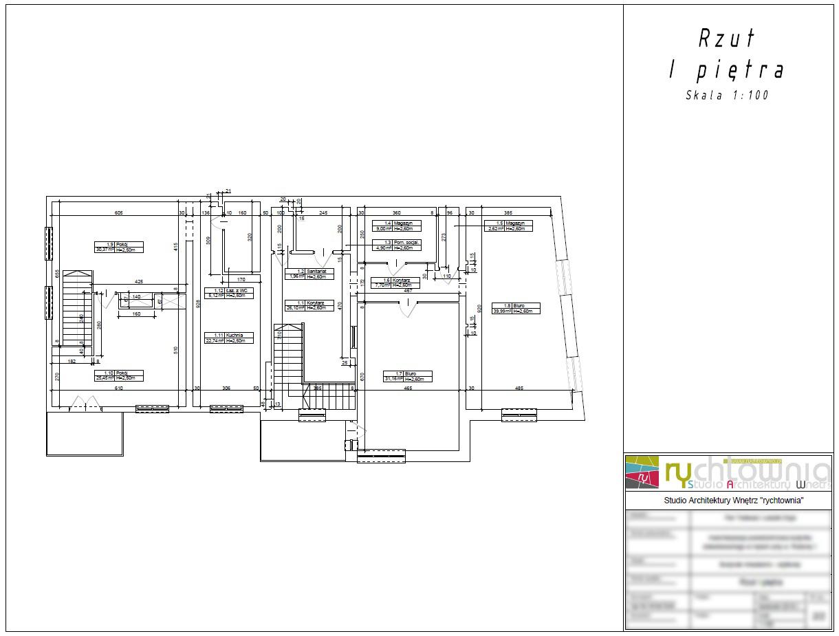 Inwentaryzacja budowlana-Studio projektowania wnętrz rychtownia